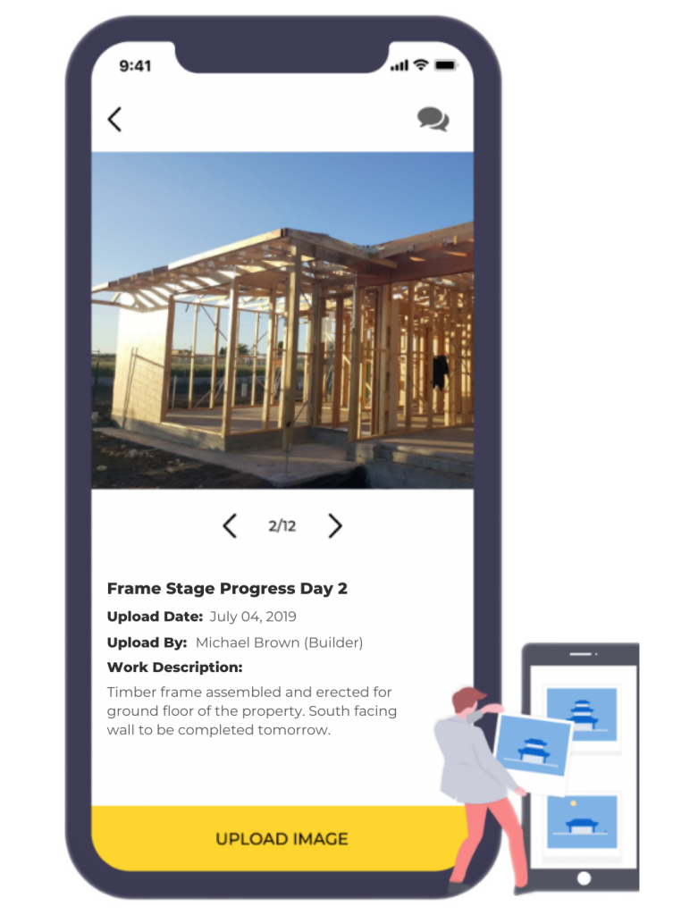 Send clients updates on your projects with the PongoPay construction payments app.